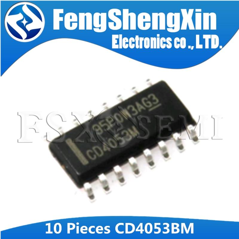 10pcs Original CD4053BM96 SOIC-16 Logic Chip Analog Multiplexer