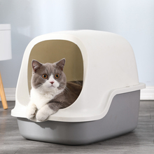 Litter-Box Cats Toilet Fully-Enclosed Splash-Proof And Send Flip-Type Large