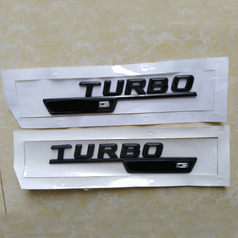 Mercedes Benz Genuine AMG Turbo Badge Emblems CLA C117 AMG CLA45 Left Right