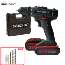 Screwdriver Battery-Tools Tool-Box Electric-Drill 21V 12V with Dual-Speed