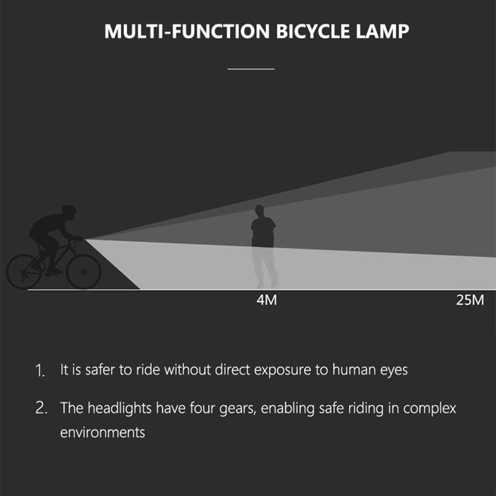 Bicycle - T6 LED Bicycle Light 10W 6 Modes USB Rechargeable Power Display MTB Mountain Road Bike Front Lamp Cycling Equipment Flashlight