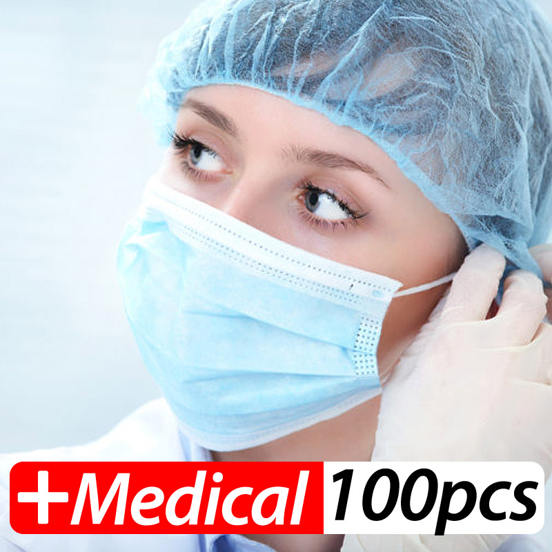 Medical-Mask Profession 3-Ply Disposable Elastic Nonwoven N95 Mouth PM2.5 Breathable title=