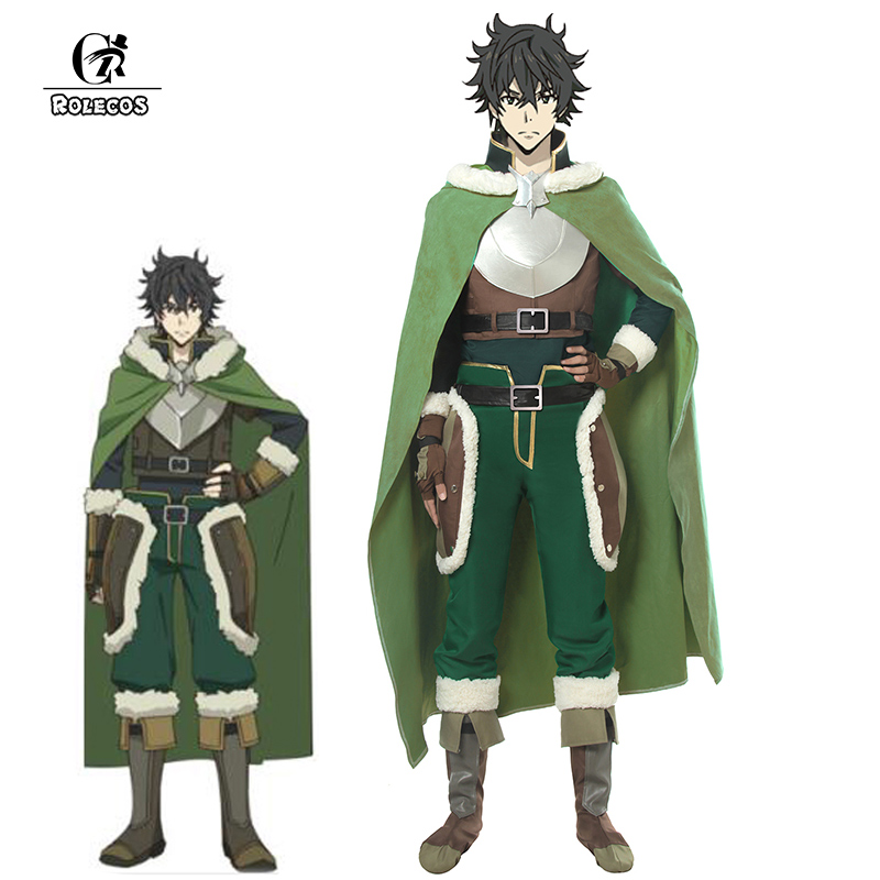 ROLECOS Cosplay Costume Cloak Suit Shoes-Cover Rising-Of-The-Shield Iwatani No-Yuusha title=