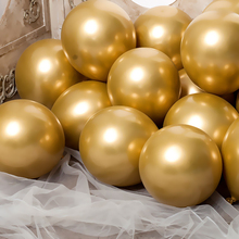 20pcs Metallic Gold Silver Green Purple Ballon Wedding Happy Birthday Latex Balloons Metal Chrome Balloon Air Helium Baloon