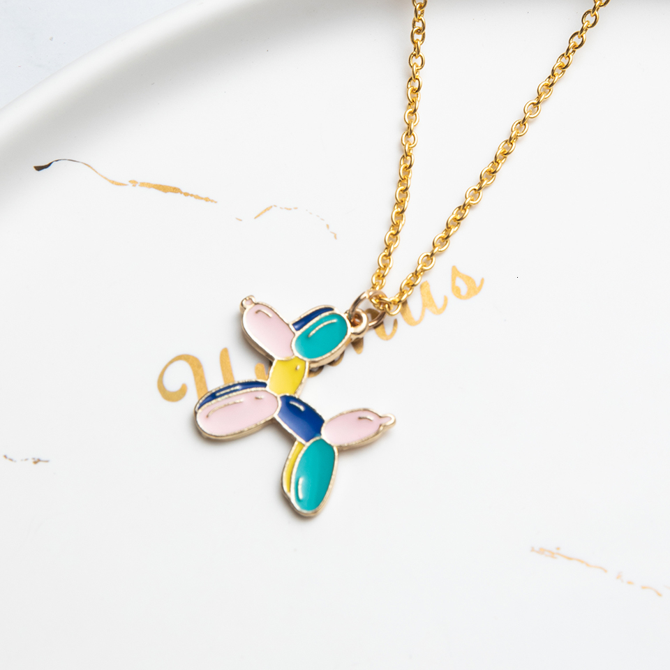 Anime Character Cartoon Necklaces Women Girl Children Christmas Deer Stocking Santa Claus Planet Moon Star Necklace&Pendant Gift (17)