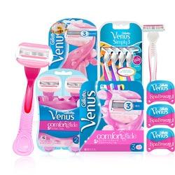Gillette Venus Бритва для женщин Гладкая смазывающая и удобная ультратонкая 3-слойная бритвенная бритва лезвия для удаления волос
