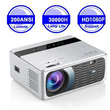 LCD Projector Bluetooth Wifi YJ600 HDMI Lumens 720P Home Theater Wireless 3800 EU TF