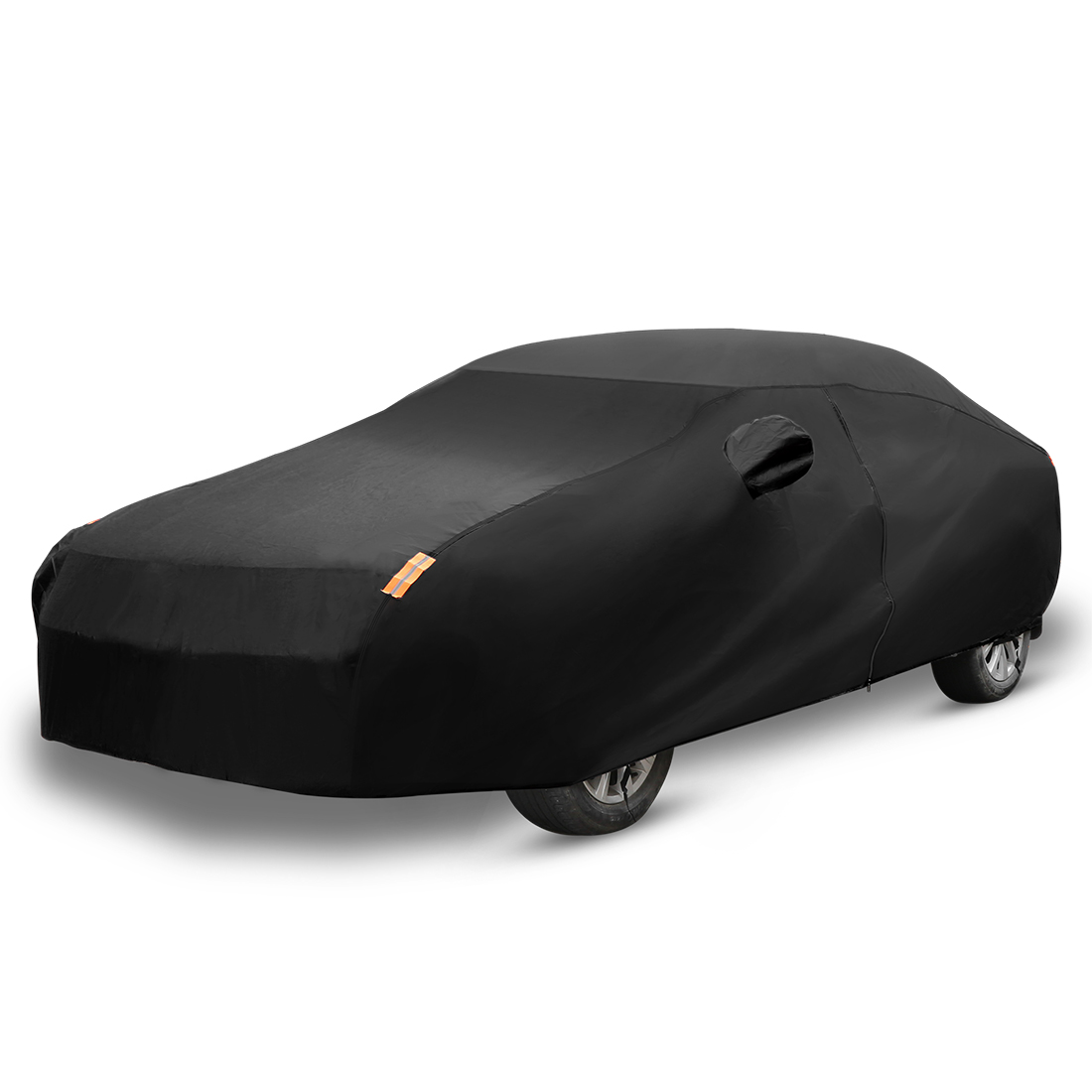 X Autohaux Universal Full Car Cover Indoor Outdoor Auto Car Covers Snow Ice Waterproof Dust Sun UV Shade Cover for All Season title=