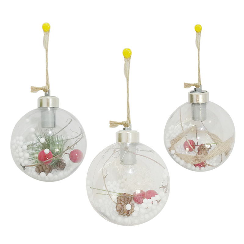LED Light Crystal Ball Lamp Fairy Holiday Lighting For Christmas Party Transparent Clear Tree Garden Window Hanging Decor