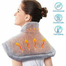 Electric-Heating-Pad Warmer Back-Shoulder Winter Temperature Pain-Relief Moist-Neck Eu-Us-Controller