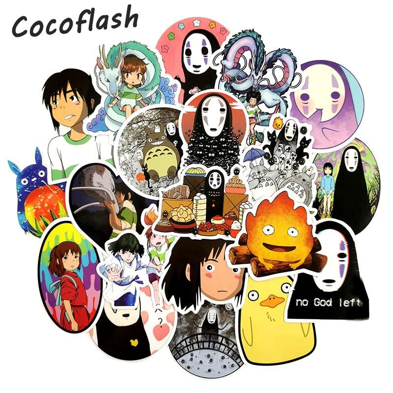 50 Pcs/set Cute Hayao Miyazaki Spirited Away No Face Man Sticker Decal For Phone Car Laptop Suitcase Waterproof Stickers
