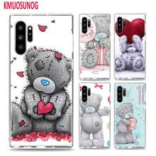 Мягкий ТПУ чехол Me To You Bear для samsung Galaxy Note 10 10Plus 9 8 S10 S10E S9 S8 Plus S7 S6 Edge чехол для телефона(China)