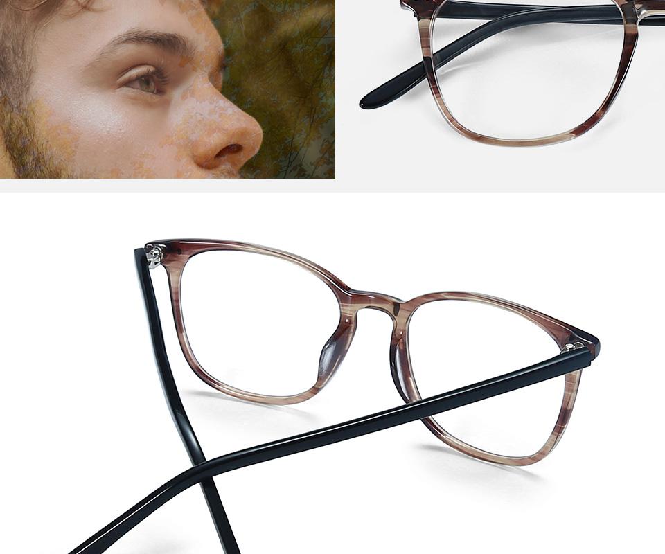 ZENOTTIC Transparent Glasses Frame Men Prescription Glasses Lenses Acetate Glasses Man Frames Optical Myopia Eyeglasses (2)