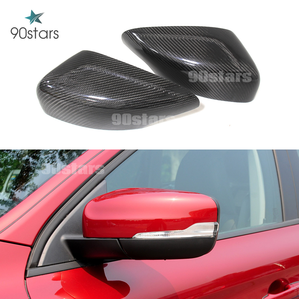 DYBANP Car Rear View mirror cover,For Volvo XC90 2015-2020,ABS Carbon Fiber Rear View Mirror Cover Side Door Rear View Mirror Cover Trim