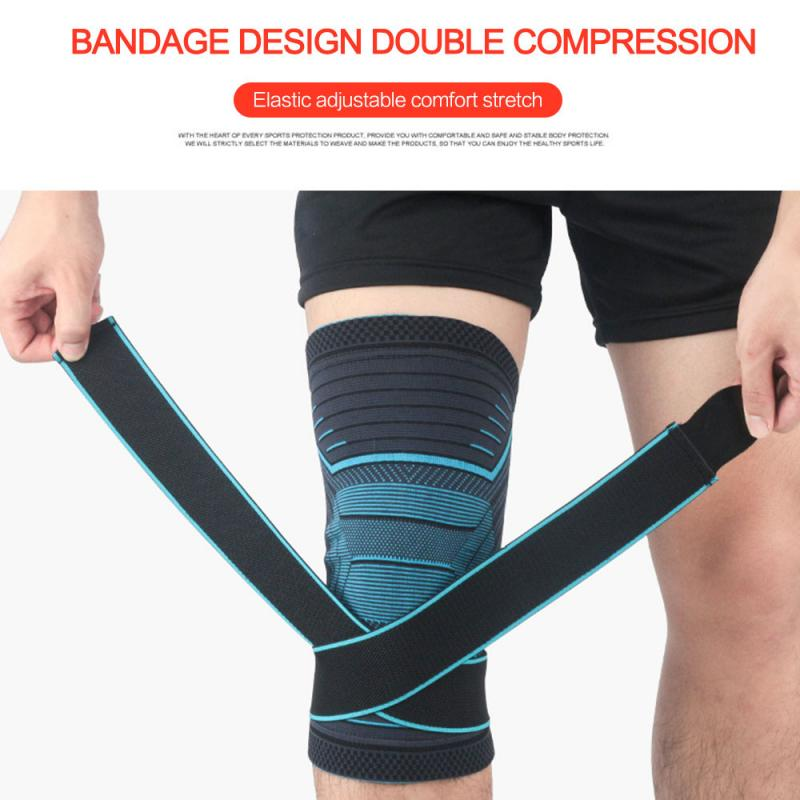 Knee Warmer Muscle Joint Care Compression Bandage Black//Grey Breathable Stretch