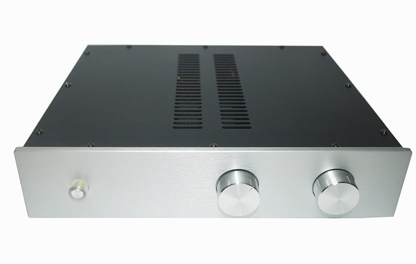 2204E Headphone Chassis Full Aluminum Preamplifier Enclosure Amp Box DIY Case