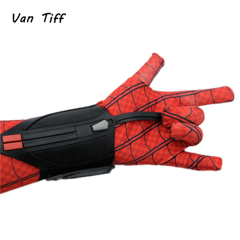 Spider gloves man Spider Arm Bracers Man Peter Parker Superhero Cosplay Costume Arachnoid Wrist launcher With Shooter Props title=