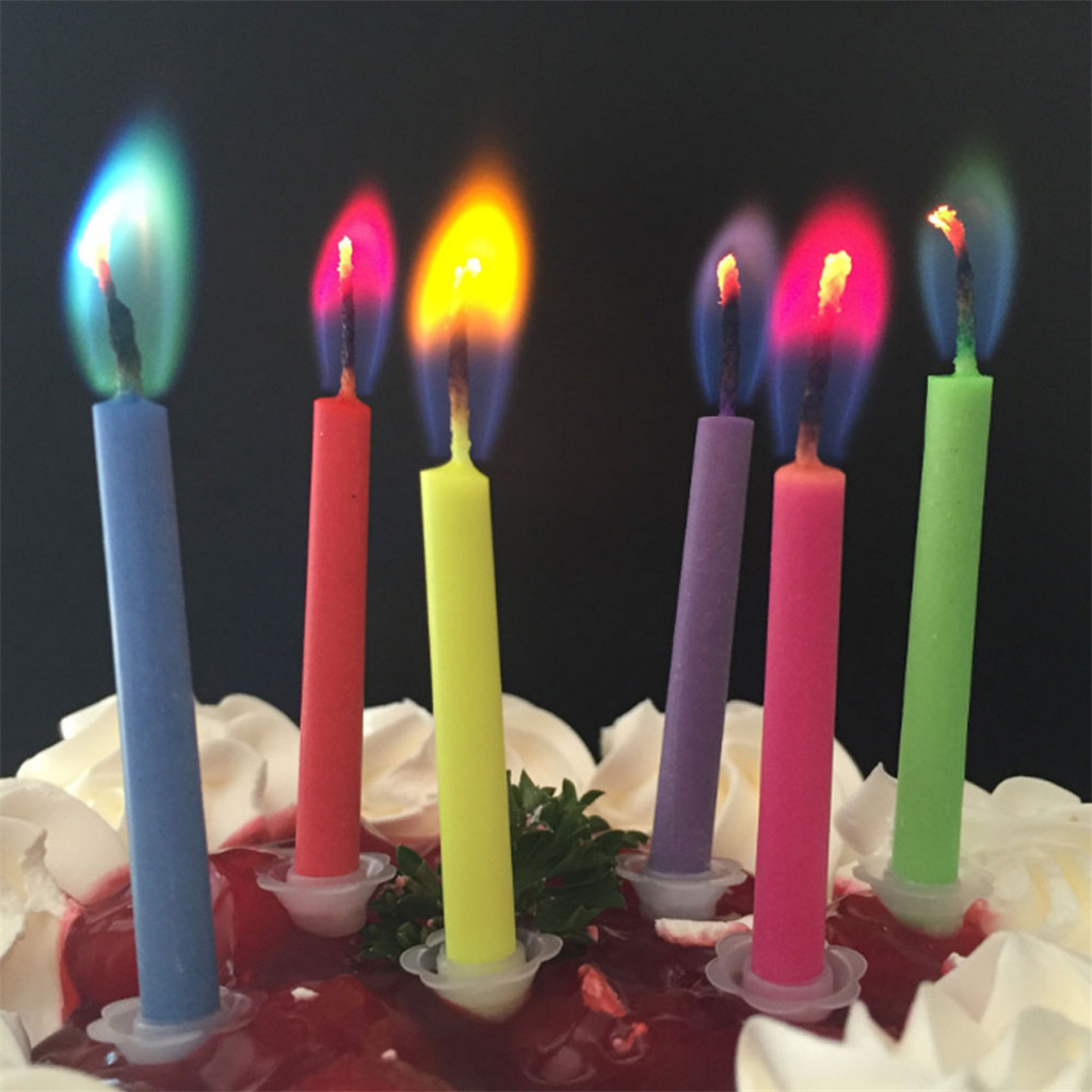 Birthday Candles Pumpkin Smokeless Cake Topper Candle for Halloween Party Supplies