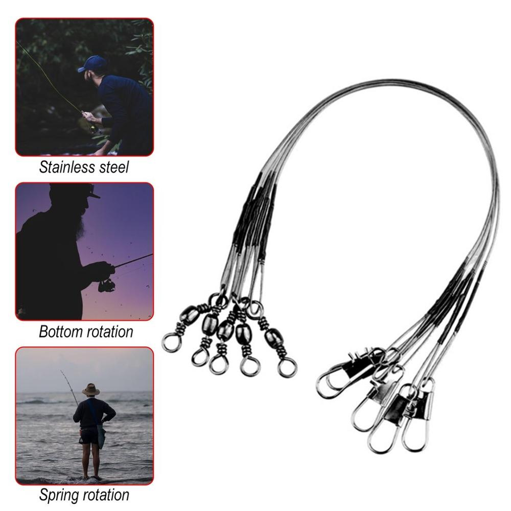 Fishing-Line Leader Steel 5pcs with Leash Anti-Bite 16/23cm title=