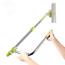 Щетка для чистки стекол, инструмент с 180 зубчатой головкой, удлинитель, салфетка из микрофибры для внутренних и наружных окон