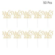 Cake Toppers Paper Words-Happy-Birthday Decor-Supplies Fruit-Picks Glitter Mr 10pcs Dessert-Table