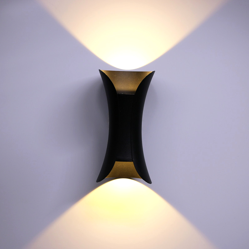 quality ip65 COB LED outdoor wall light garden porch balcony lighting buitenverlichting black gold white