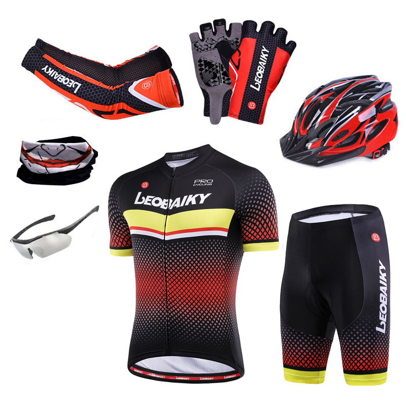 Outfit Clothing Jersey-Set Bicycle-Clothes Cycling-Sets Sportwear Mtb Mountain-Bike Pro-Team title=