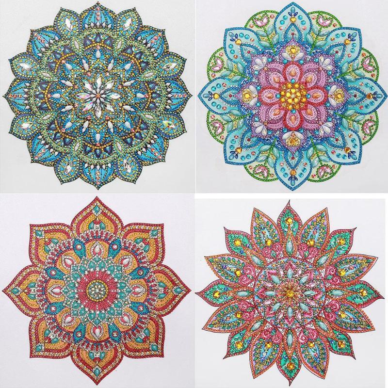 WHXJ 5D DIY Diamante Pintura Punto De Cruz Mandala Decoraci/ón para El Hogar Rhinestones Llenos De Incrustaciones De Mosaico Diamante Bordado 40X50 Cm