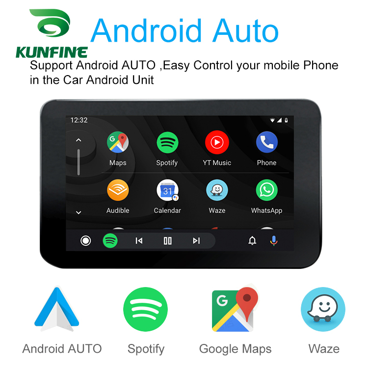 KUNFINE Wireless Wire Apple CarPlay Dongle for Android Car stereo Unit USB Carplay Stick with Android AUTO (6)