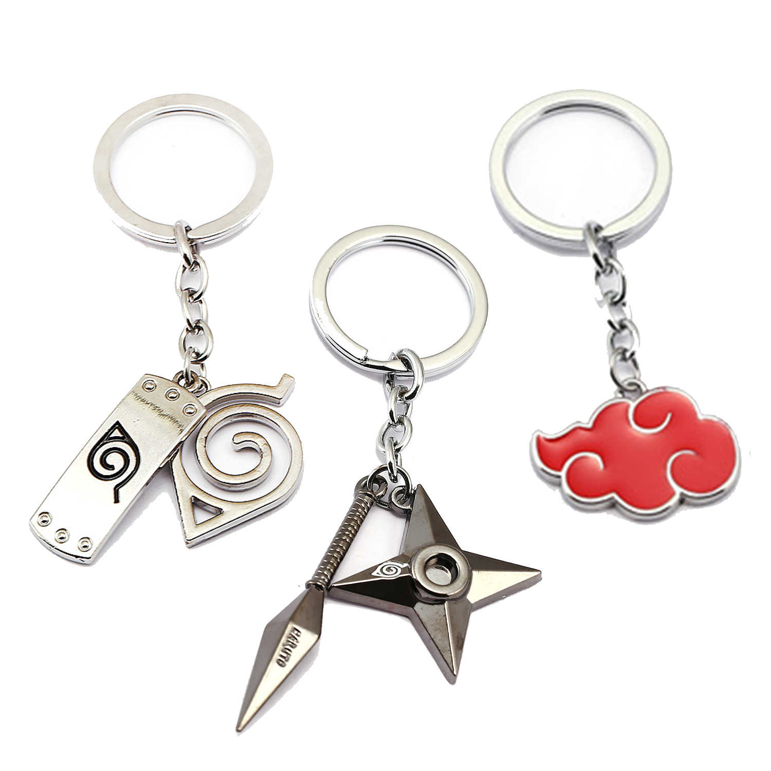 25 Style NARUTO Keychain Anime Key Chain Akatsuki hat Key Ring Holder scrolls Pendant Chaveiro Jewelry Souvenir