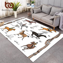 Large Carpets Horse-Riding Living-Room Tradition Area-Rug Floor-Mat Animal Beddingoutlet