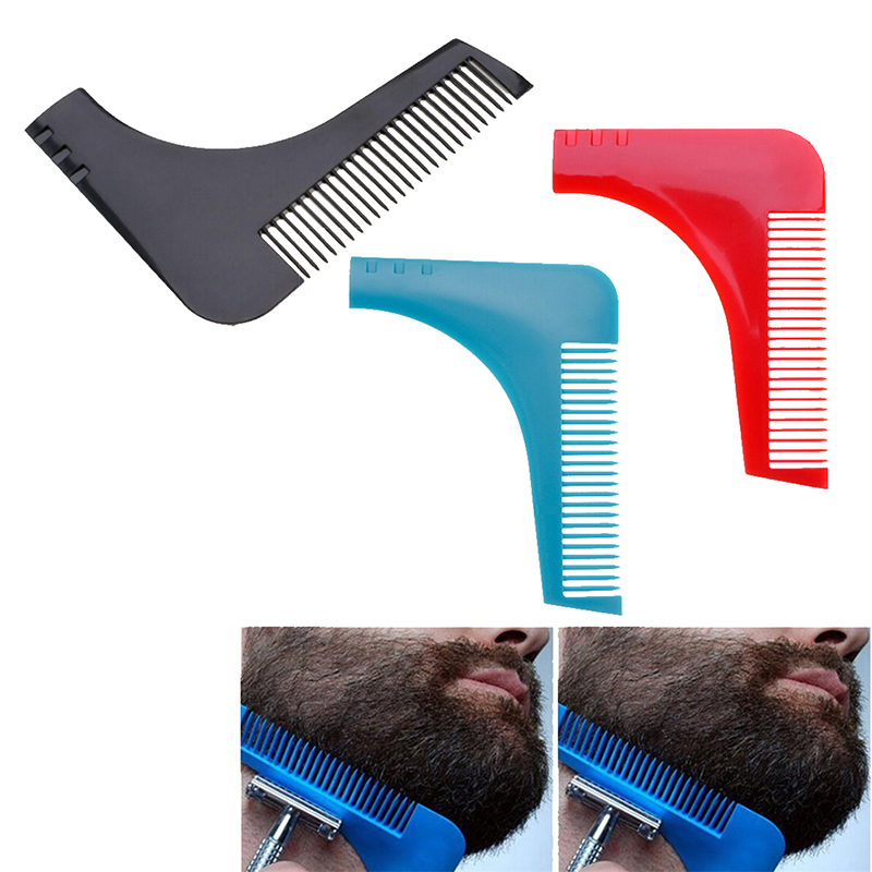 Men Gentleman face Hair Beard Shaper Guide Template Combs Styling Accessories Trim Shaping Tool Lines Symmetry