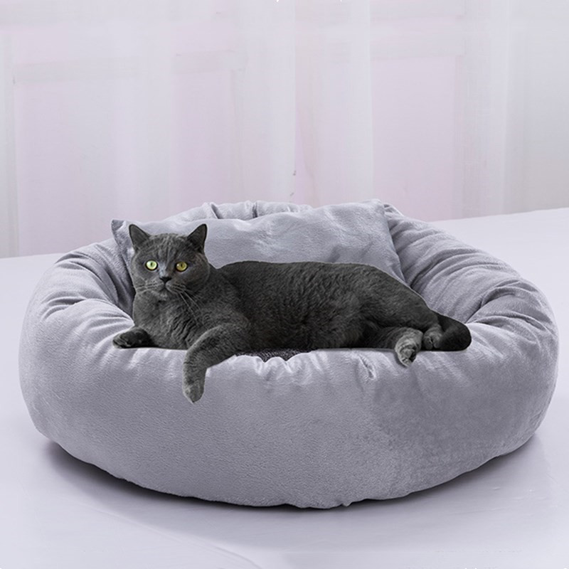 Egg Tart Shape Pet Bed Warming Dog House Soft Material Sleeping Bag Non Slip Cushion Kitten Puppy Kennel Cats Products for Pets 1