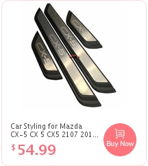 XHSM Pedal Stainless Steel Car Kick Plates Pedal Plate Protector For Mazda 2 2014-2020 Door Sill Protector Sticker Threshold Cover Protection