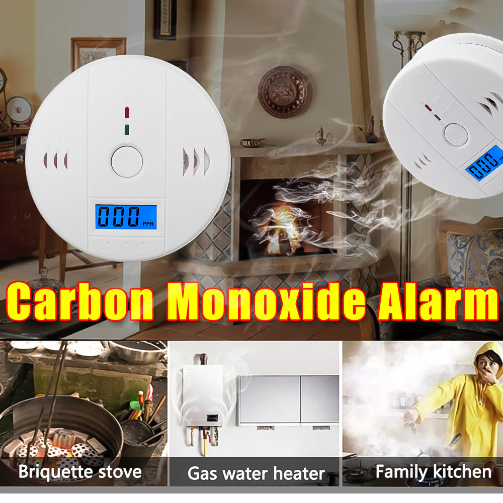 Alarm-Detector Co-Sensor Poisoning Carbon-Monoxide Sound Home-Security LCD Siren Work-Alone title=