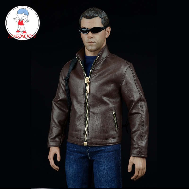 CC138 1//6 Clothing-Biker Jacket,Tee,Jeans Full Set for HOT TOYS,PHICEN