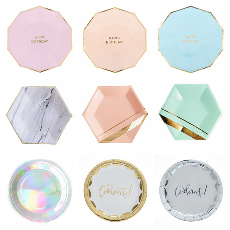 """Pack of 30 Pink Plates Disposable Plastic 10/"""" Wedding Party Christening"""