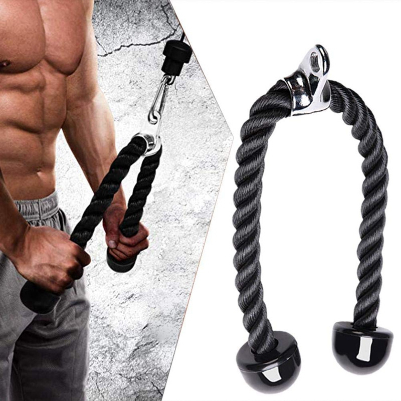 Cable Machine Attachments Tricep Rope D-Handle Pully Optional for Gym Fitness