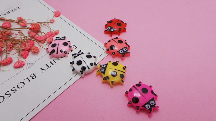 Slime charms 5pcs Addition Slime Charms for Slime Supplies Filler Polymer Cartoon Beetle Accessories Toy Model Tool for Kids Toys Gift 4