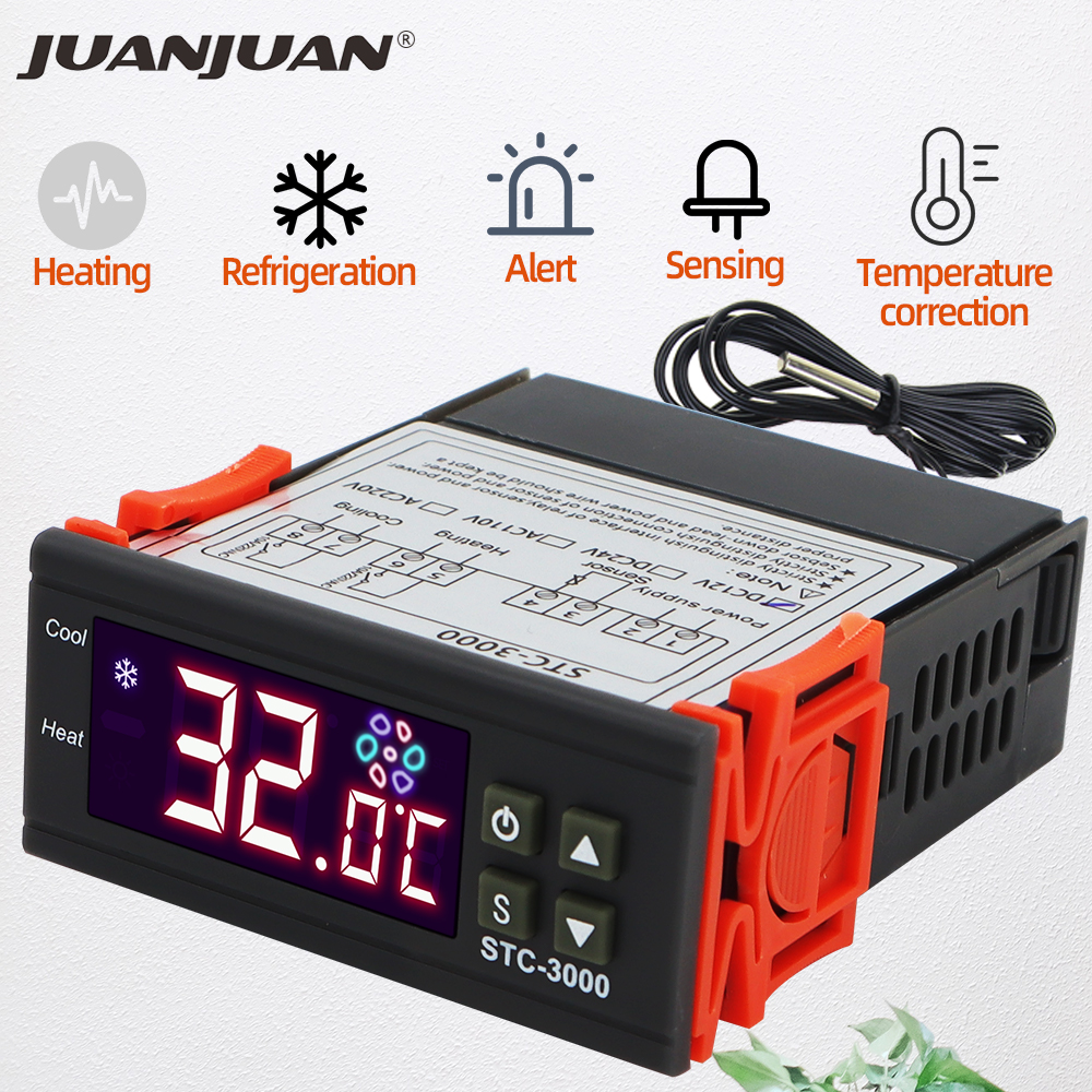 Цифровой термостат контроллер температуры термометр гигрометр 12 В 24 220 Скидка