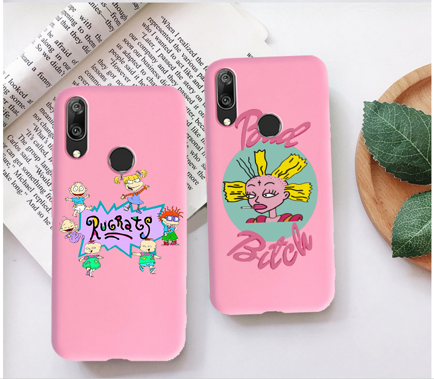 cartoon Rugrats amine lovely Candy Color Case for Huawei P10 P20 P30 MATE 10 20 honor 9 10 Smart Soft Silicone Case
