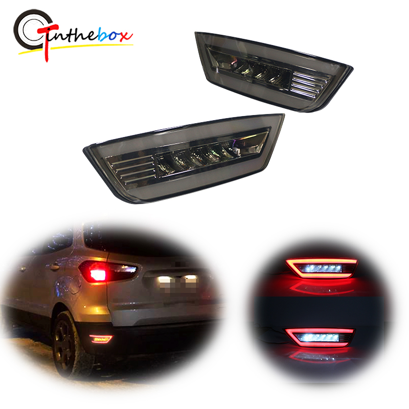 Car Tail Light Modification Accessory Fit for EcoSport 2013-2019 1 Pair of LED Tail Light