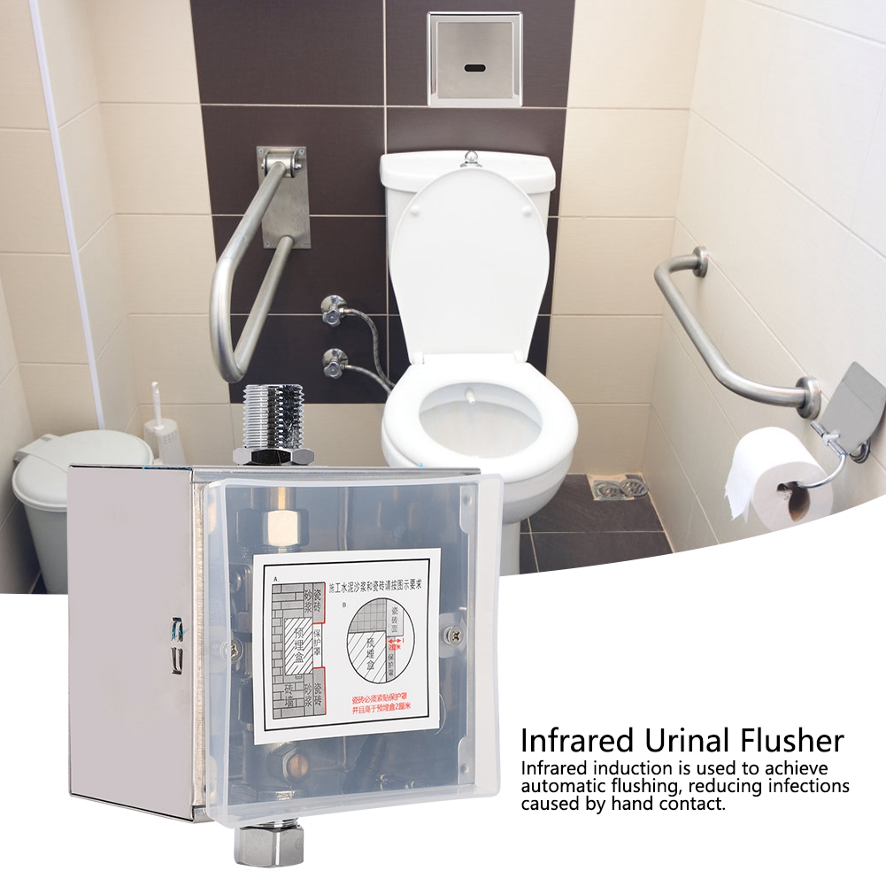 Induction Urinal Flusher High Sensitivity for Hotel Restaurant Surface Installation Induction Flusher Exposed Tube