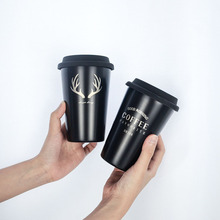 Coffee-Mug Straw Letter-Pattern Stainless-Steel Travel Creative Silicone Camping