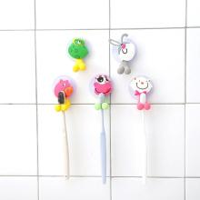 Rack Toothbrush-Stand-Organizer Suction-Hooks Wall-Mounted Bathroom Sucker 1PC Cute Cartoon