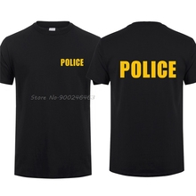T-Shirts Man SWAT Security Tops Cotton Tees Cool Harajuku Streetwear