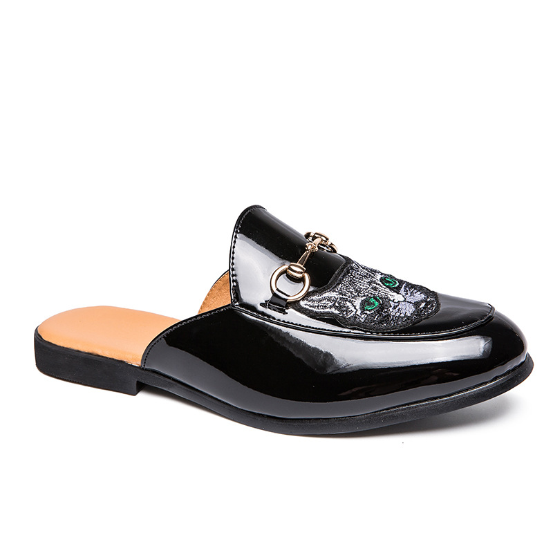 Summer Slip-on Lazy Closed-toe ban tuo xie Male Red Lively Social Fella Moccosins Versatile Korean-style Trendy Shoes