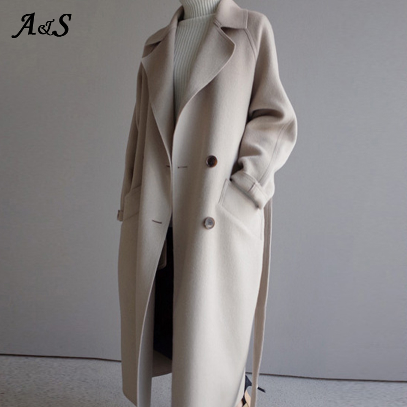 Women Coat Long British Style Trench Coat Long Section 2020 Spring Autumn Women's Korean Autumn Winter Coat Female Overcoat