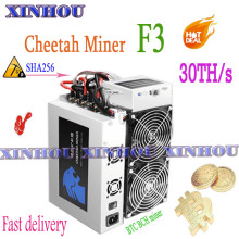 BTC BCH Miner Cheetah Miner F3 Asic 30T bitcoin miner with PSU better than F1 Antminer
