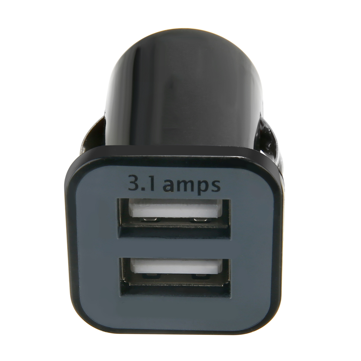 New Arrival 1pc Black Car Truck Dual 2 Port USB Mini Charger Adapter for i-Phone i-Pad S-amsung Cellphones MP3